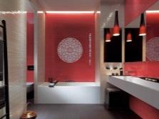 Черно-красная ванная