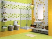 Вставки в плитке в ванной