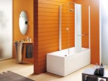 Ванная в оранжевом цвете