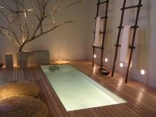 Напольное освещение в ванной