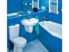 Ассиметричная ванная в интерьере