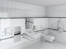 Различные поручни для инвалидов в ванной