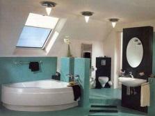 Вариант зонирования ванной комнаты