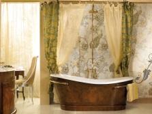Массивная шторка для ванной