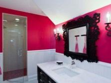 Ванная комната цвета фуксии