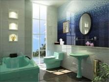 Салатовая акриловая ванна