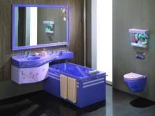Сантехника в ванной комнате из одной коллекции
