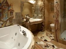 Варианты настенных и напольных панно в ванной комнате