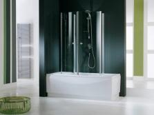 Прозрачная ширма для ванной