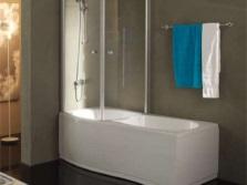 Открывающаяся ширма для ванной