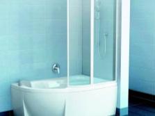 Пластиковая шторка для ванной
