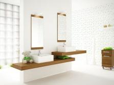Аксессуары в белую ванную