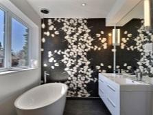 черно-белая красивая ванная