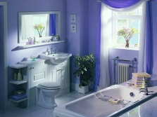Украшение ванной комнаты цветами