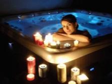 Гидромассажный бассейн с подсветкой