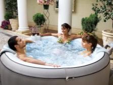 Большой надувной бассейн спа