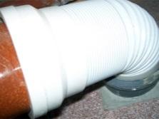 Вариант монтажа гофрированной трубой