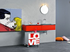 Контрастная ванная комната в стиле минимализм