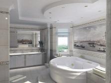 Настенные панно в интерьере ванной комнаты