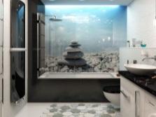 Продуманные мелочи в красивой ванной