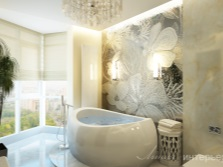 Красивое панно в ванной