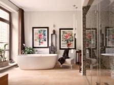 Красивый и гармоничный дизайн ванной комнаты в стиле фьюжн