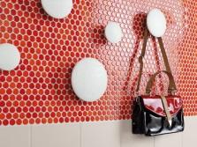 Красная круглая мозаика