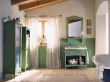 Мебель для ванной комнаты в стиле кантри