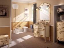Мебель для ванной комнаты в стиле классицизма