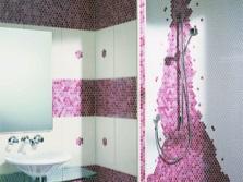 Зонирование мозаикой помещения ванной комнаты