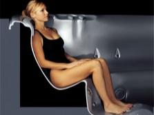 Положение тела в гидромассажной ванне