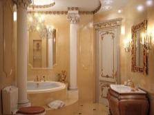 Освещение многоуровневое в ванной комнате