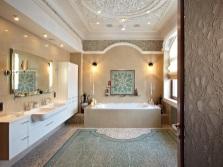 Стильный подвесной потолок для ванной
