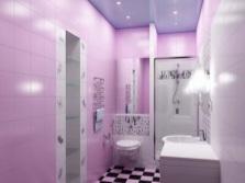 Сиренево-лиловая ванная