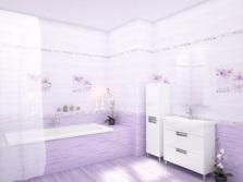 Светло-сиреневая ванная