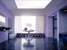 Сиреневый и фиолетовый в дизайне ванной