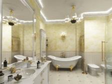 Соврменная ванная в классическом стиле