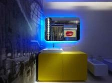 Современная ванная хай тек