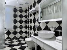 Шахматная плитка в ванную