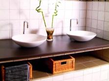 Раковина в ванной комнате в стиле прованс