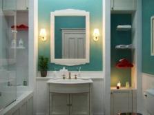 Приглушенные цвета - ванная в стиле прованс