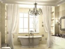 Освещение в ванной прованс