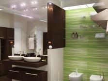 Галогеновые лампы в ванной комнате
