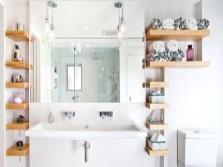 Аксессуары грамотно размещенные в ванной