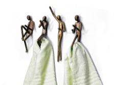 Бронзированные крючки для полотенец