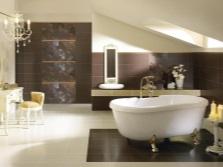 Бежево-коричневая ванная