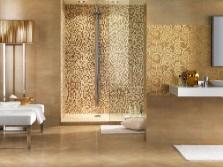 Бежевая плитка в ванную