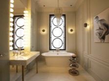 Красивая бежевая плитка в ванной