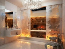 Бежевая плитка для ванной комнаты