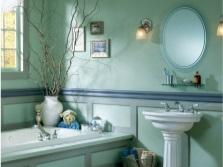 Бирюзовый в ванной с другими цветами